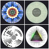 Set of 4 music album cover templates. Abstract vector backgrounds royalty free illustration