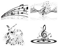 Set of music background. Set of vector musical notes background for design use Stock Images