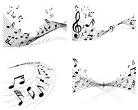 Set of music background. Set of vector musical notes background for design use Stock Image