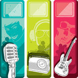 Set of music banners Stock Photo
