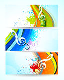 Set of music banners Stock Photos
