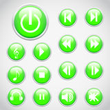 Set of music buttons Royalty Free Stock Photos