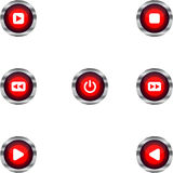 Set of Music Buttons Royalty Free Stock Photo