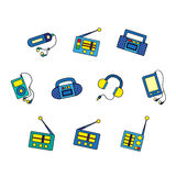 Set of music devices Stock Photography