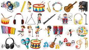 Set of music element. Illustration royalty free illustration