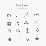 Set of music flat logosΠRoyalty Free Stock Photo