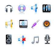 Set of music icons Royalty Free Stock Images