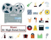 Set of 24 Music Icons Stock Images