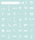 Set of music icons Stock Images