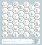 Set of music icons Royalty Free Stock Photography