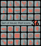 Set of music icons Stock Photos