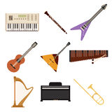 Set of music icons2 Royalty Free Stock Images