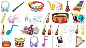 Set of music instrument. Illustration stock illustration