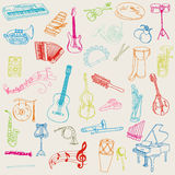 Set of Music Instruments Royalty Free Stock Photography