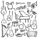 Set of music instruments Royalty Free Stock Image