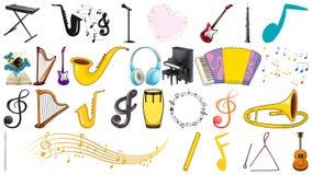 Set of music instruments. Illustration stock illustration