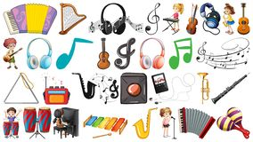 Set of music instruments. Illustration royalty free illustration