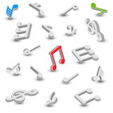 Set of music notes Royalty Free Stock Image