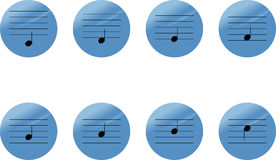 Set of music notes icons Stock Photos