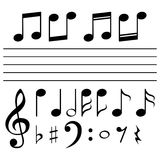 Set of music notes - illustration Royalty Free Stock Photo