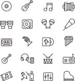 Set of music and sound icons Royalty Free Stock Photos