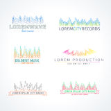 Set of music wave logo vector elements Stock Image