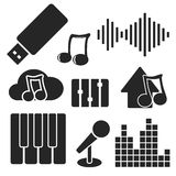 Set of music web and mobile icons. Vector. Stock Image