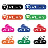 Set of  musical buttons Stock Photography