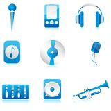 Set of musical component Stock Image