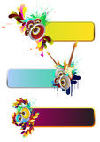 Set of musical elements Stock Images