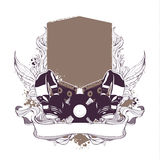 Set of musical grunge elements Royalty Free Stock Image