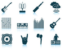 Set of musical icons. Stock Photography