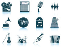 Set of musical icons Royalty Free Stock Images