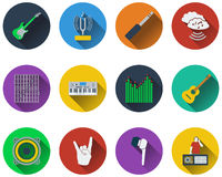 Set of musical icons Stock Image
