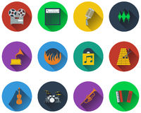 Set of musical icons Royalty Free Stock Photography