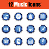 Set of musical icons. Royalty Free Stock Photo