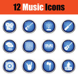 Set of musical icons. Stock Photos