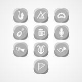 Set musical instrument web icon Stock Photography