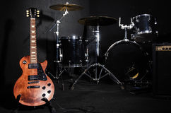 Set of musical instruments Stock Image