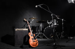 Set of musical instruments. During concert Stock Images