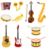 A set of musical instruments Royalty Free Stock Images