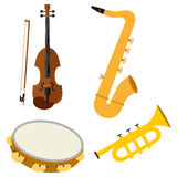 A set of musical instruments Stock Photography
