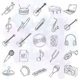 Set of musical instruments icons. Stock Photo