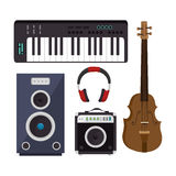Set musical instruments icons Royalty Free Stock Photo