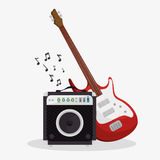 Set musical instruments icons Royalty Free Stock Images