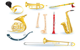 Set of musical instruments Stock Photography