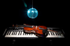Set of musical instruments in shadow Royalty Free Stock Images