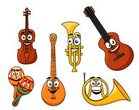 Set of musical instruments Royalty Free Stock Photo