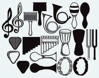 Set of musical instruments Stock Images
