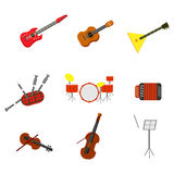 Set of musical instruments Royalty Free Stock Images